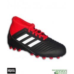 ADIDAS PREDATOR Niños 18.3 AG Negro-Rojo Bota Futbol Calcetin Hierba Artificial CG6358