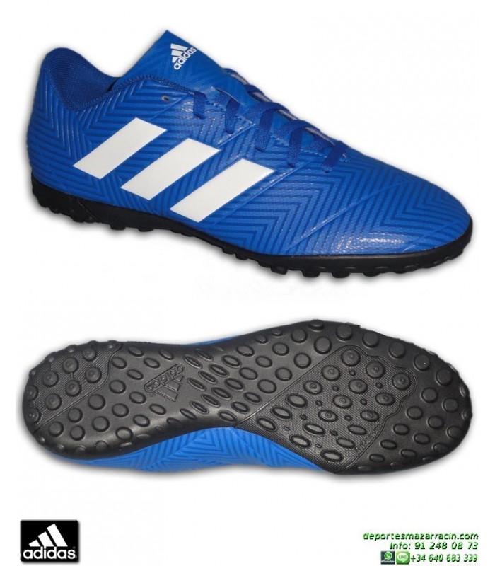 low priced c58a9 b1e7e ADIDAS NEMEZIZ TANGO 18.4 Azul Zapatilla Futbol Turf Hierba Artificial  DB2264 hombre adulto personalizar Ampliar