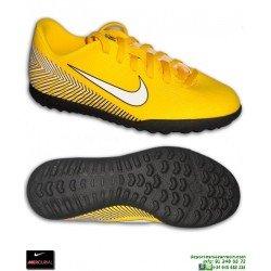 Nike MERCURIAL VAPOR 12 CLUB Niño NEYMAR Amarilla Zapatilla Futbol Turf c15a242025f28