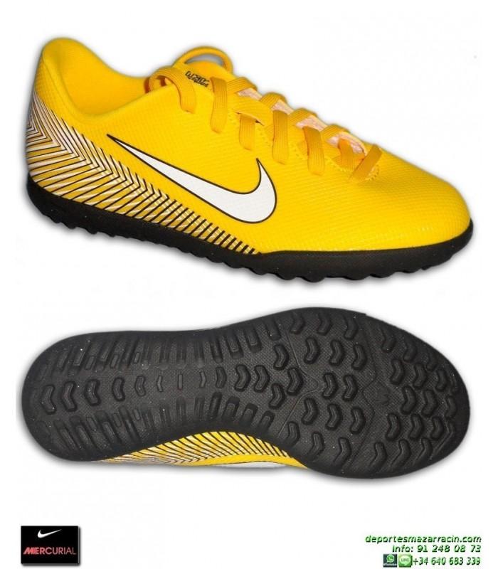 Nike MERCURIAL VAPOR 12 CLUB Niño NEYMAR Amarilla Zapatilla Futbol Turf  AO9478-710 df652e5fb0f3f