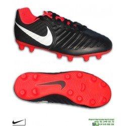 Nike TIEMPO LEGEND 7 Niño Negro-Rojo Bota Fútbol FG-R