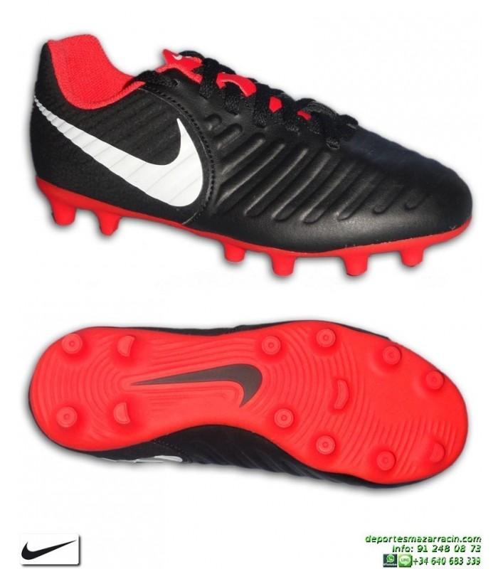 321ebc2fb21c Nike TIEMPO LEGEND 7 Niño Negro-Rojo Bota Fútbol FG-R sergio ramos