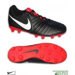 Nike TIEMPO LEGEND 7 Negro-Rojo Bota Fútbol FG-R