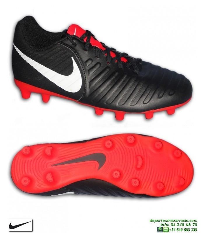 Nike TIEMPO LEGEND 7 Negro-Rojo Bota Fútbol FG-R AO2597-006 sergio 9702009415b84
