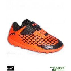 PUMA FUTURE 2.4 Infantil Griezmann Naranja Zapatilla Futbol Velcro Turf 104849-01