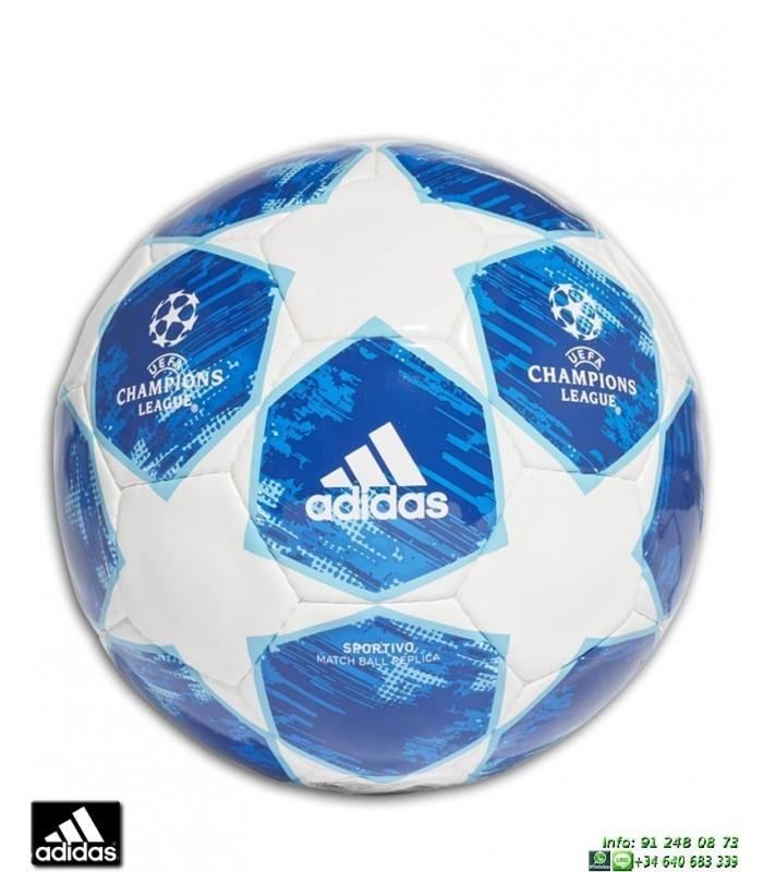 6a00b89885cf9 Balon CHAMPIONS LEAGUE 2018-19 ADIDAS FINALE Sport blanco azul CW4132  personalizar