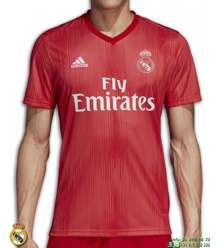 Camiseta REAL MADRID 2018-2019 Roja tercera Equipacion ADIDAS Oficial  champions DP5445 0c71e880ff12c