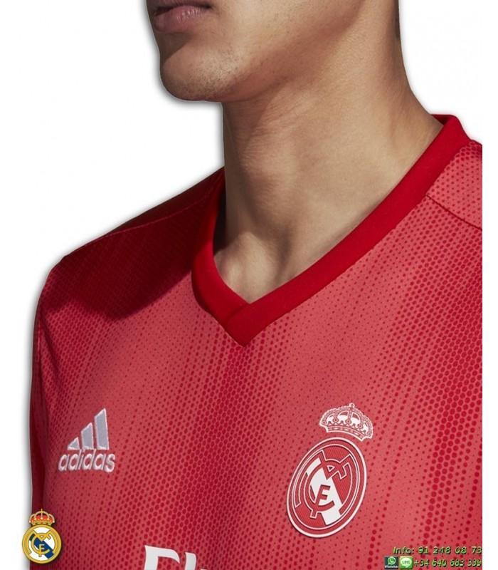Camiseta REAL MADRID 2018-2019 Roja tercera Equipacion Junior ADIDAS  Oficial champions DP5446 futbol a3aa3f36b6eb3