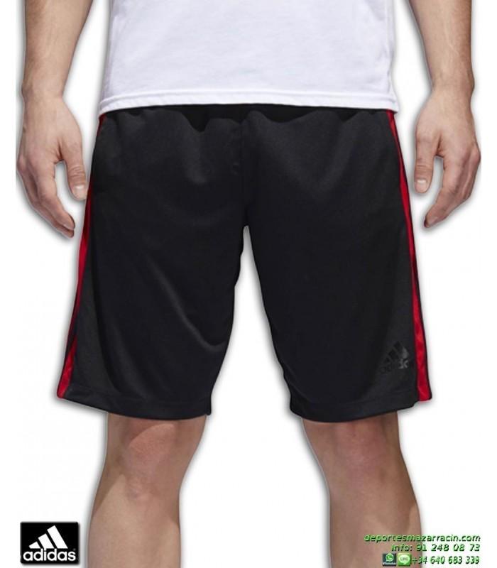 quality design c3214 2dfa4 Pantalon Corto ADIDAS D2M 3S SHORT Negro-Rojo BQ3185 hombre bermuda tenis  padel clima lite