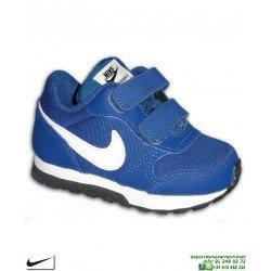 Zapatilla Nike MD RUNNER 2 Infantil Niño (TDV) Azul Velcro 27ef458afc74b