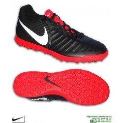 Nike TIEMPO LEGEND 7 Negro-Rojo Zapatilla Fútbol Turf AH7248-006