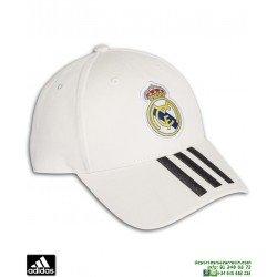 Gorra REAL MADRID ADIDAS 3S CAP blanca CY5600