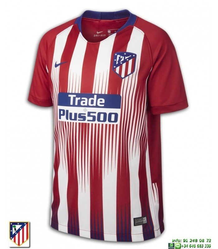 Camiseta Niño ATLETICO MADRID 2018-2019 primera Equipacion Oficial 88e42c00908ab
