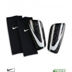 Espinillera Nike MERCURIAL LITE Negra con Media de Sujeccion futbol