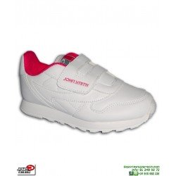 Zapatilla Clasica John Smith CRESIRVEL Niñas Blanco-Rosa reebok classic leather