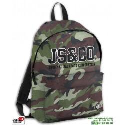 Mochila Camuflaje John Smith M18202 Militar colegio escolar