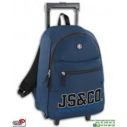 Mochila Con ruedas Escolar Niño John Smith Carro Trolley M18218 Marino