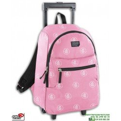 Mochila Con ruedas Escolar Niña John Smith Carro Trolley M18218 Rosa