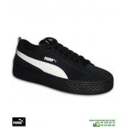 Sneakers Mujer PUMA SMASH PLATFORM SD Negro-Blanco chica Rihanna Creeper 366488-02