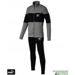 Chandal Algodon PUMA REBEL BLOCK SWEAT SUIT Gris-Negro Hombre 851563-03 deporte chaqueta pantalon tracksuit