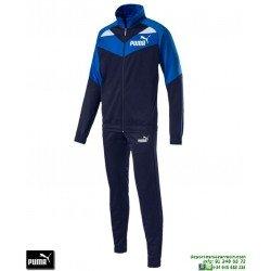 Chandal PUMA ICONIC TRICOT SUIT Azul marino Hombre 851559-06 poliester acetato deporte chaqueta pantalon tracksuit