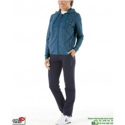 Chandal Mujer Algodon John Smith BANEB WOMAN Verde Azulado tracksuit femenino deporte conjunto chaqueta pantalon