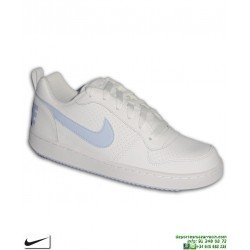 Sneakers Nike COURT BOROUGH LOW Chica Blanca-Celeste AIR FORCE 1 845104-103