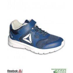 Zapatilla Deporte Para Niños REEBOK RUSH RUNNER Azul Marino CN7246