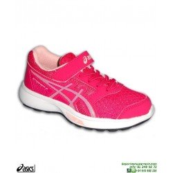 Zapatilla Running para Niñas ASICS STORMER PS Velcro Rosa C812N-700