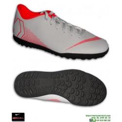 Nike MERCURIAL VAPOR 12 CLUB Gris Zapatilla Futbol Turf AH7386-060 bota hombre