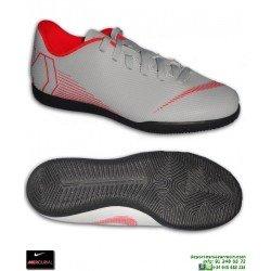 Nike MERCURIAL VAPOR 12 CLUB Niño Gris Zapatilla Futbol Sala AH7354-060 cordones bota junior