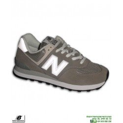 Sneakers NEW BALANCE 574 Gris-Blanco Hombre