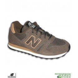 Sneakers NEW BALANCE 373 Piel Marron Hombre