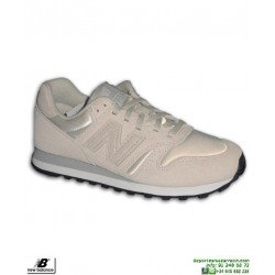 Sneakers NEW BALANCE 373 Piel Beige Mujer Zapatilla moda calle WL373OSP