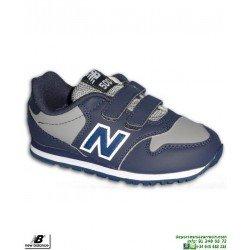 Zapatilla Niño NEW BALANCE 500 Piel Azul Marino Velcro moda calle KV500VBY