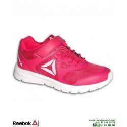 Zapatilla Deporte Para Niñas REEBOK RUSH RUNNER Rosa CN7252 velcro