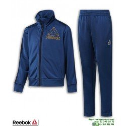 Chandal Niño REEBOK Workout Ready Azul Marino Poliester Tricot Acetato DH4326 junior tracksuit