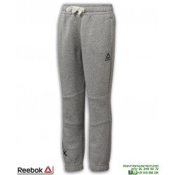 Pantalón Chandal Algodon REEBOK Training Fleece Pant Chico Gris junior DJ3078