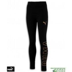 Malla Pantalon Chica PUMA STYLE LEGGINGS Negro-Dorado 852556-01