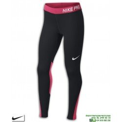 Malla Pantalon Chica NIKE Pro Tights Negro-Rosa 890228-013 mujer gimnasio deporte Running