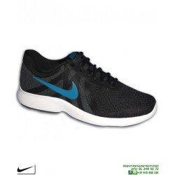 Zapatilla Deporte Nike REVOLUTION 4 Negro-azul Hombre AJ3490-014