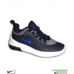 Zapatilla Nike AIR MAX AXIS Junior Marino Camara de Aire AR1664-400 moda calle sneakers