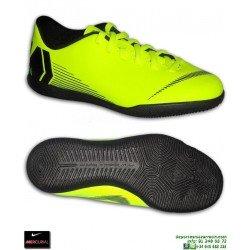 Nike MERCURIAL VAPOR 12 CLUB Niño AMARILLA fluor Zapatilla Futbol Sala AH7354-701