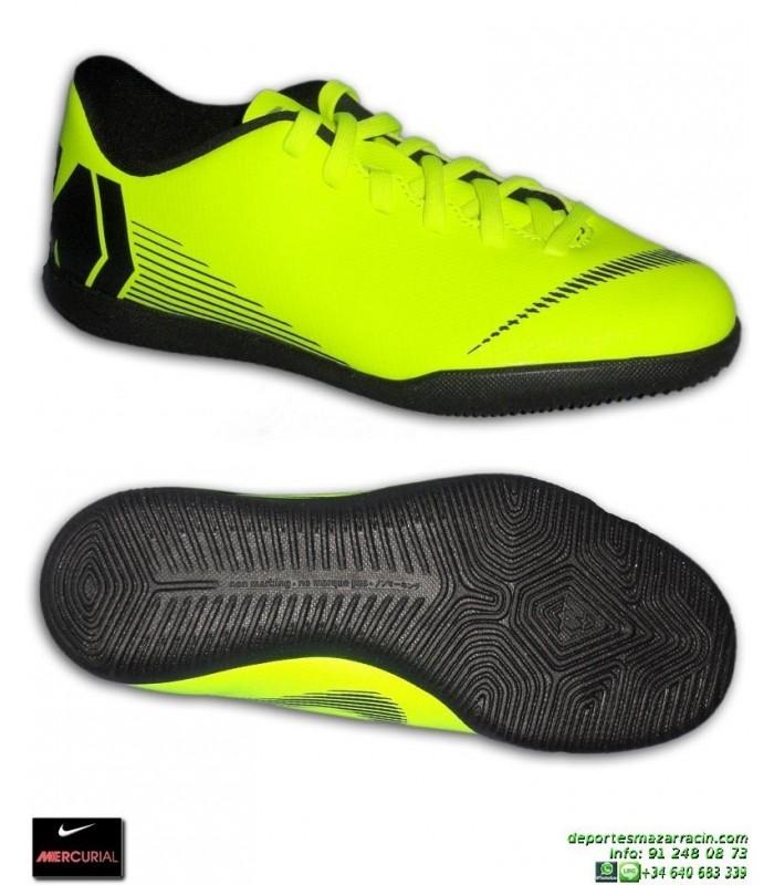 6534f2d5d6 Nike MERCURIAL VAPOR 12 CLUB Ni o AMARILLA fluor Zapatilla Futbol Sala  AH7354-701