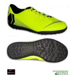 Nike MERCURIAL VAPOR 12 CLUB Niño Amarillo Zapatilla Futbol Turf