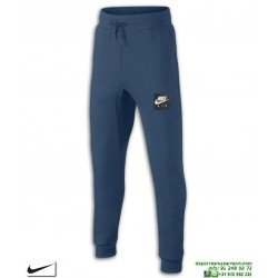 Pantalón Chandal Algodon NIKE AIR PANTS Chico Azul junior 939585-474 puño pitillo ajustado
