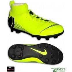Nike MERCURIAL SUPERFLY 6 CLUB Niño Amarilla Bota Futbol Tobillera