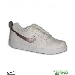 Sneakers Nike COURT BOROUGH LOW Chica Crema-Bronce AIR FORCE 1 845104-007 deportiva