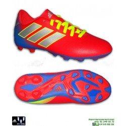 ADIDAS NEMEZIZ MESSI Bota Futbol Niños 18.4 Rojo-Azul tacos Hierba artificial CM8630 personalizar