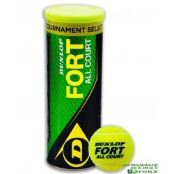 DUNLOP FORT ALL COURT Bote de pelotas Tenis 3 bolas 601234